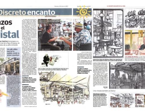 Feliu Renom i els Urban Sketchers Mallorca al Bar Cristal de Palma